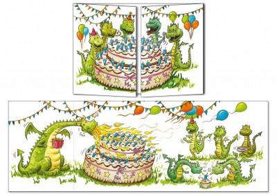 """Carte d'anniversaire Cache-cache """"Anniversaire du dragon"""""""