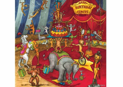 Carte fiesta anniversaire cirque