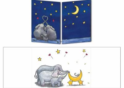 """Faire-part naissance """"Les Elephants frere"""""""