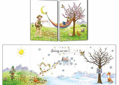 """Création Faire-part naissance """"Les saisons"""""""