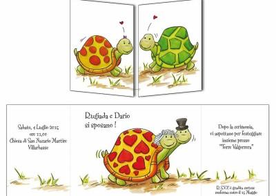 Faire-part mariage rencontre de tortues