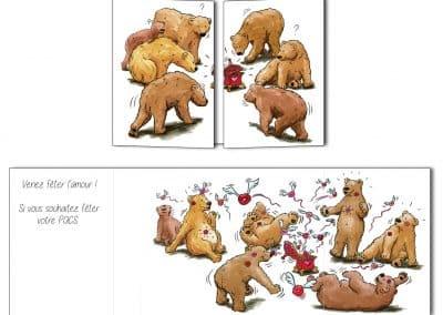 """Création d'un faire-part de PACS ou de mariage """"Les ours"""""""