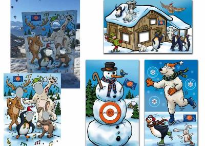 Création de l'illustrations de jeux pour une station de ski.