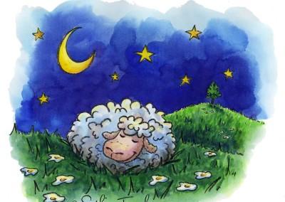 "Illustration ""Le mouton dort"""