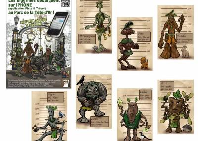 Création de personnages pour application Iphone