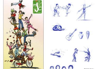 Illustrations des activités MJC de Voreppe