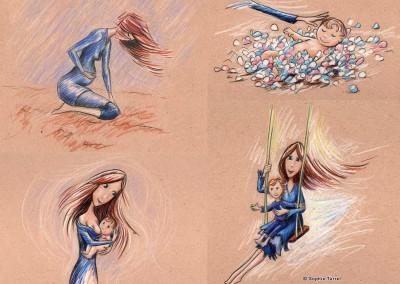 Illustrations réalisées pour projet de livre jeunesse.