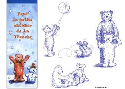 """Illustrations pour une plaquette d'accueil de la """"petite enfance"""""""