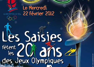 Affiche 20 ans Jeux Olympiques d'Albertville