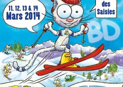"""Affiche du festival BD des Saisies """"Les petits chats"""""""
