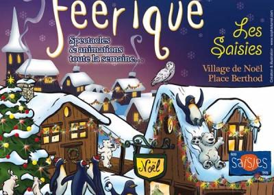 Affiche pour les fêtes Le Noël féérique 2014