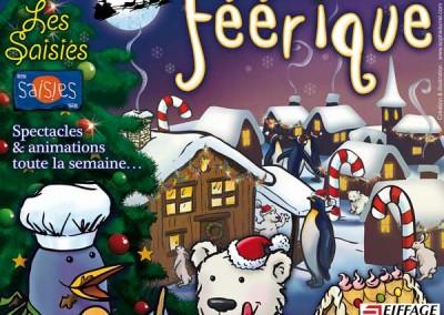 Affiche Le Noël féérique, semaine de Noël aux Saisies