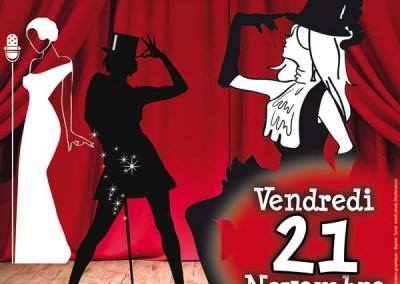 affiche pour une soirée cabaret