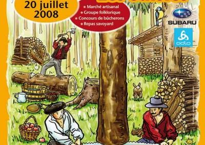 Affiche créée pour La fête du bois 2008