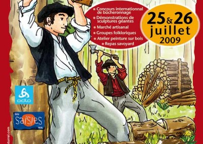 Affiche créée pour La fête du bois en 2009