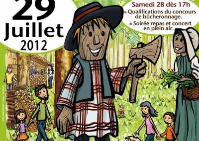 Affiche créée pour La fête du bois des Saisies en 2012