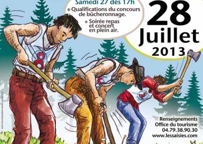 Affiche La fête du bois et du bûcheronnage 2013