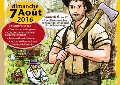 Affiche réalisée en 2016 pour La fête du bois de la station Les Saisies.