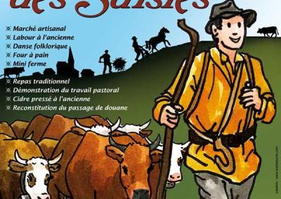 Création de l'affiche de La fête des Saisies 2009
