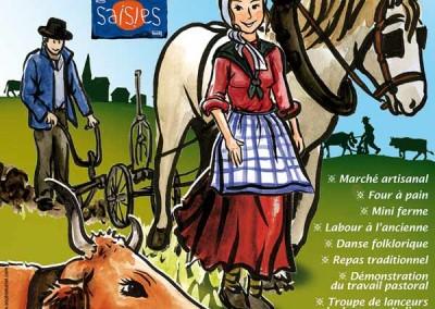 Affiche créée pour La fête des Saisies en 2010