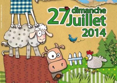 Affiche pour La fête des Saisies 2014
