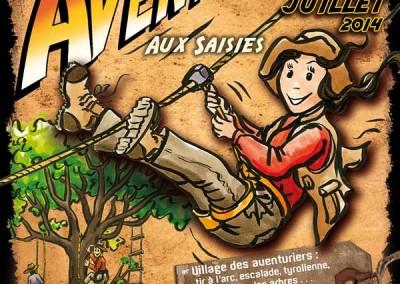 Affiche créée pour La grande aventure aux Saisies en 2014