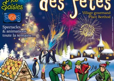 Affiche La féérie de Noël aux Saisies