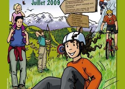 Affiche pour la fête de la randonnée et de la montagne 2009