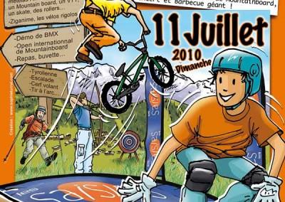 Affiche La fête de la randonnée et de la montagne 2010