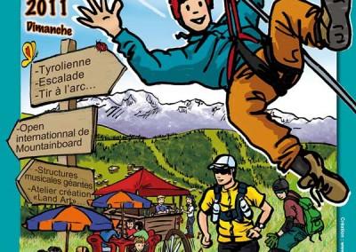 Affiche créée pour la fête de la randonnée et de la montagne 2011