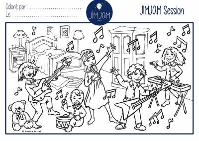 """Création de coloriages pour la marque de pyjamas enfants """"JIMJAM""""."""