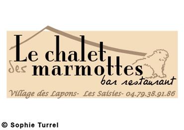 Logo pour le restaurant «le chalet des marmottes»