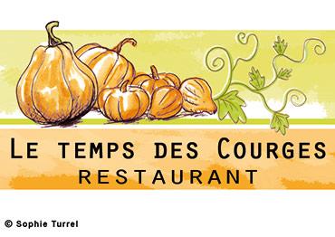 Logo pour le restaurant « Le temps des courges »