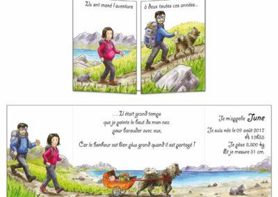 """Faire-part naissance """"Le treck"""""""