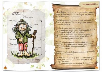 """Présentation double-page du livre """"Les farfadets"""""""