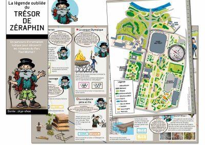 Création graphique et illustrations parc Paul Mistral de Grenoble.