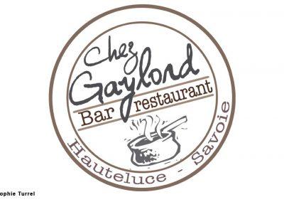 """Logo créé pour le Restaurant """"Chez Gaylord"""""""