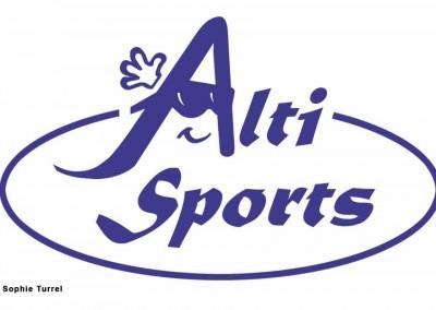 Création du logo pour le magasin Alti Sports, d'équipement sportifs