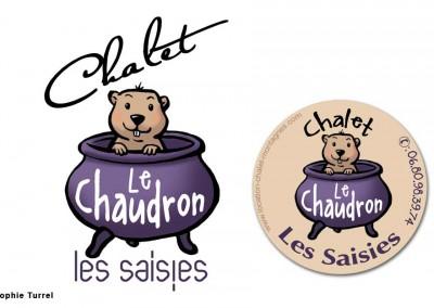 Logo pour location saisonnière du chalet le chaudron sur les Saisies