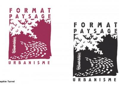 Dessin du logo pour une entreprise paysagiste et urbanisme