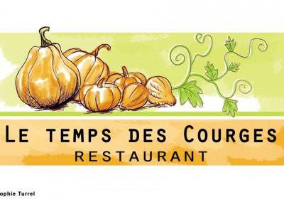 Création logo restaurant le temps des courges