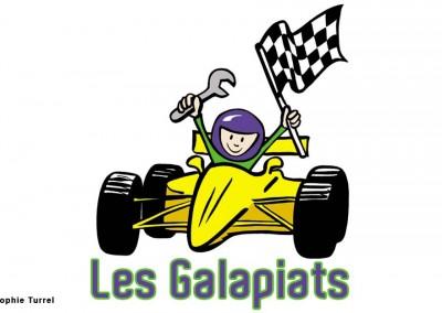 Logo créé pour Les Galapiats, association pour enfants
