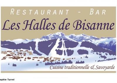 Création logo du restaurant les halles de Bisanne