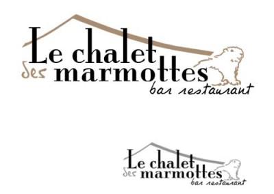 Logo pour le restaurant savoyard le chalet des marmottes
