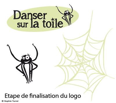 Création de logo pour le site internet danser sur la toile
