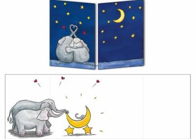 """Faire-part naissance """"Les éléphants"""""""