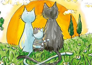 Faire-part naissance «Les chats»