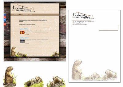 Site internet et papier en-tête
