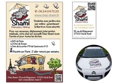 """Création identité visuelle """"Chez Shami"""""""