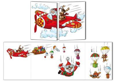 "Carte postale de Noël Cache-cache ""Flying Noël"""